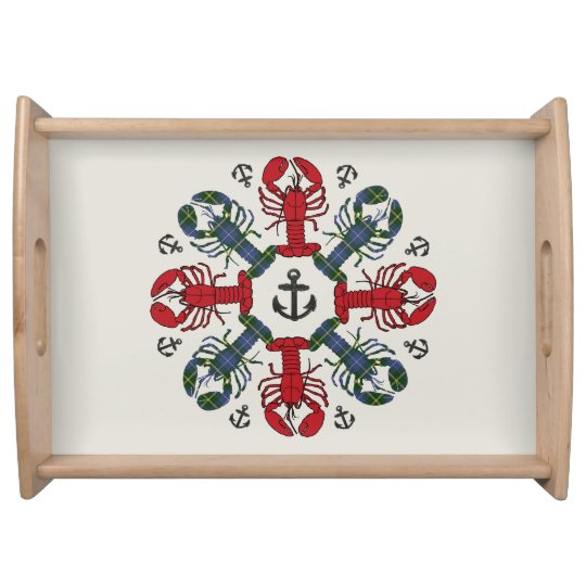 Lobster Snowflake Anchor N.S. Christmas tray Food Trays