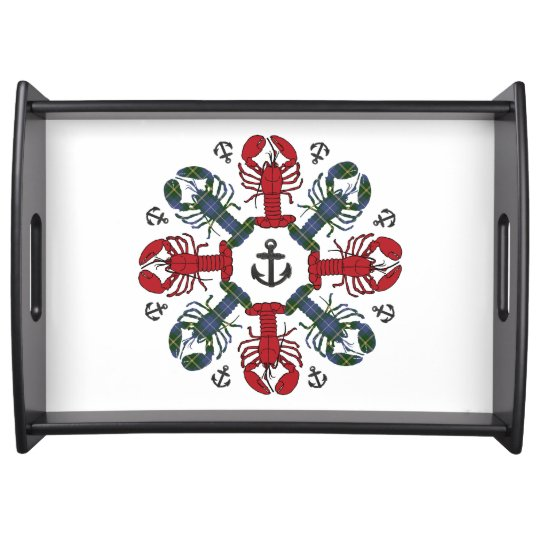 Lobster Snowflake Anchor N.S. Christmas tray Serving Platter