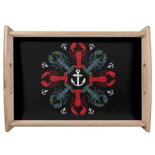 Lobster Snowflake Anchor N.S. Christmas tray Serving Platters
