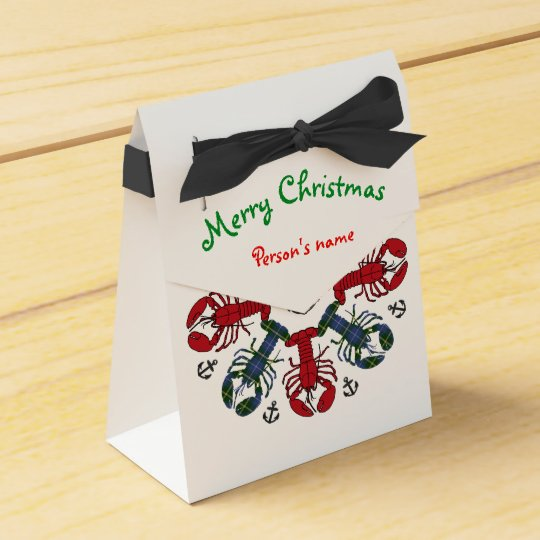 Lobster Snowflake Anchor N.S. Christmas treat bag Favor Box