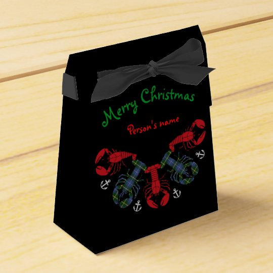 Lobster Snowflake Anchor N.S. Christmas treat bag Favor Boxes