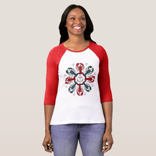 Lobster Snowflake Anchor N.S.Christmas ugly shirt