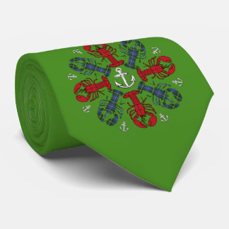 Lobster Snowflake Anchor N.S.Christmas ugly tie