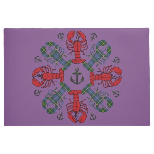 Lobster Snowflake Anchor N.S.Christmas welcome mat