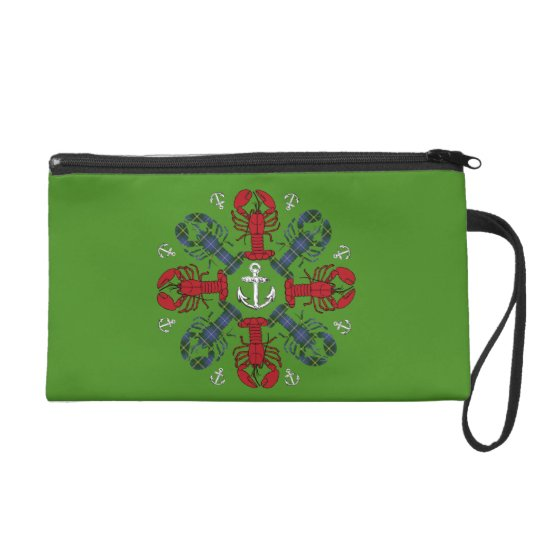 Lobster Snowflake Anchor N.S. Christmas Wristlet