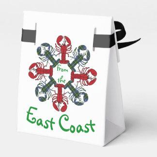Lobster Snowflake N.S. Tartan Christmas treat bag Favor Box