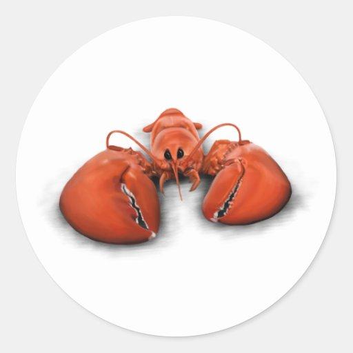 Lobster Round Sticker