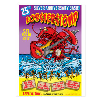 LOBSTER STOMP Poster Art by Mort Todd Postcard