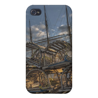 Lobster Traps and Tall Ship Masts iPhone 4 Cases