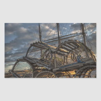 Lobster Traps and Tall Ship Masts Sticker