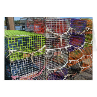 Lobster Traps in Maine Card