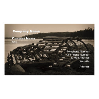 Lobster Traps Sepia Business Card Template