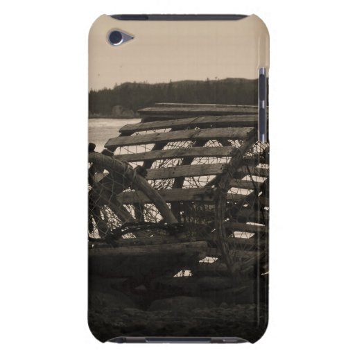 Lobster Traps Sepia Barely There iPod Covers