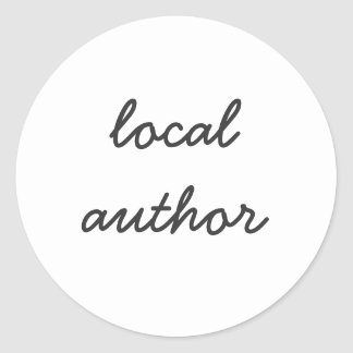 local author classic round sticker