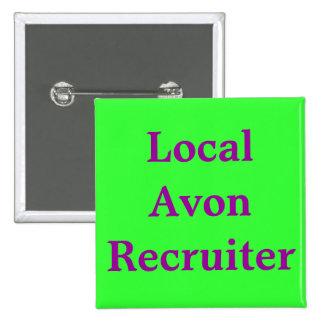 Local Avon Recruiter 2 Inch Square Button