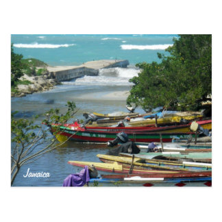Local Fishing Boats Negril River Jamaica Photo Postcard