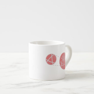 Local flatness explained with red and green apples espresso cup