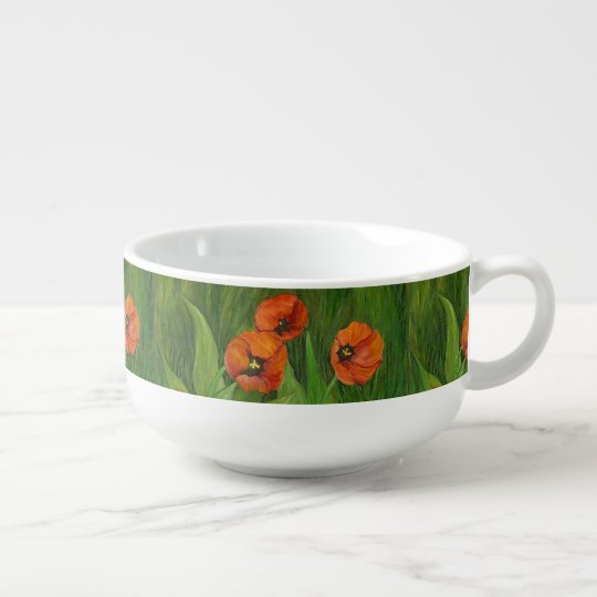 Local Flowers Soup Mug