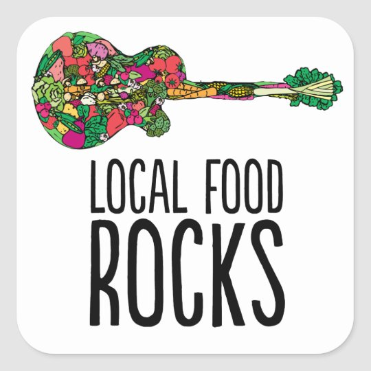 Local Food Rocks Sticker