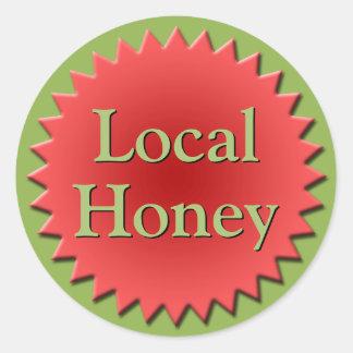 Local Honey Jar Top Classic Round Sticker
