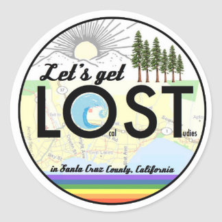 Local Studies in Santa Cruz County, CA Classic Round Sticker