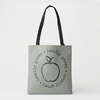 Locally grown apple tote bag