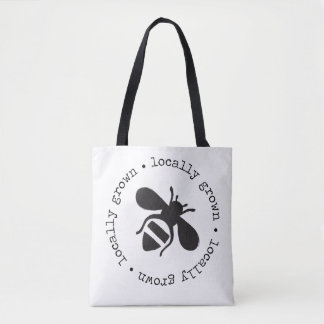 Locally grown honeybee tote bag