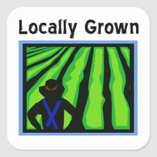 Locally Grown Square Sticker