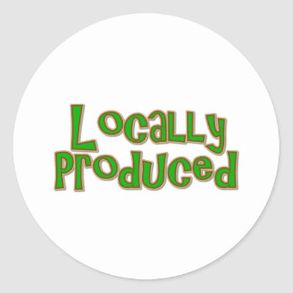 Locally Produced Classic Round Sticker