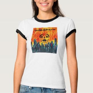 Localmusicplay.com Frankin Skull Fire City Artwear T-Shirt