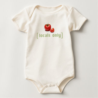 Locals Only - Funny Vegetable Vegan Tomato Baby Bodysuit