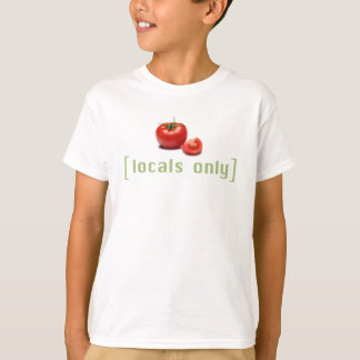 Locals Only - Funny Vegetable Vegan Tomato T-Shirt