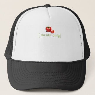 Locals Only - Funny Vegetable Vegan Tomato Trucker Hat