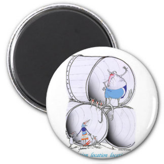 location location by tony fernandes 2 inch round magnet
