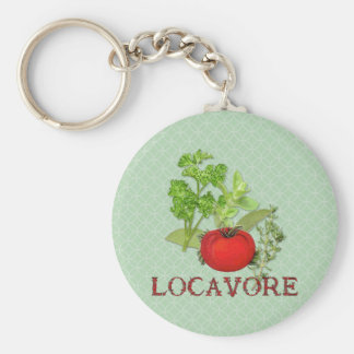Locavore Basic Round Button Keychain