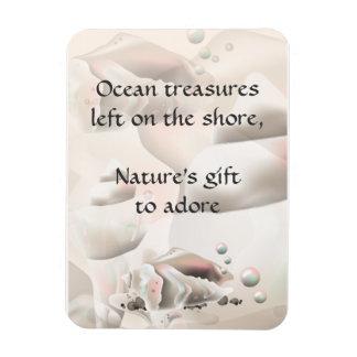 L'océan de coquillages d'océan prise l'aimant de l magnets rectangulaire