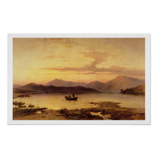 Loch Etive, from Bonawe - Evening, 1875 (oil on ca Poster