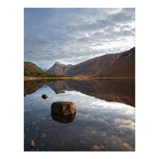 Loch Etive. Glencoe in the scottish Highlands Letterhead