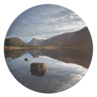 Loch Etive. Glencoe in the scottish Highlands Plate