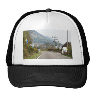 Loch Ness and highway next to it Trucker Hat