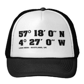 Loch Ness - Co-ordinates design Trucker Hat