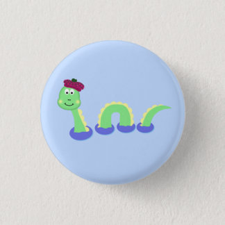 Loch Ness Monster 1 Inch Round Button