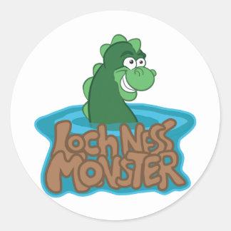 Loch Ness Monster Cartoon Classic Round Sticker