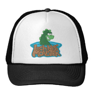 Loch Ness Monster Cartoon Trucker Hat