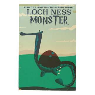 Loch Ness Monster funny travel poster