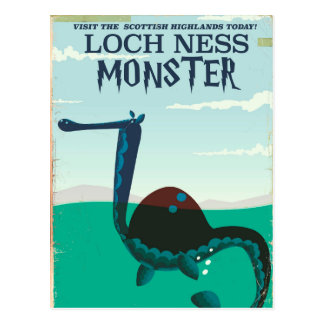 Loch Ness Monster funny travel poster Postcard