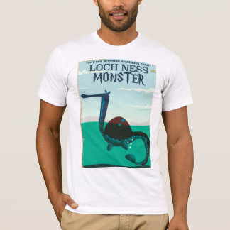 Loch Ness Monster funny travel poster T-Shirt
