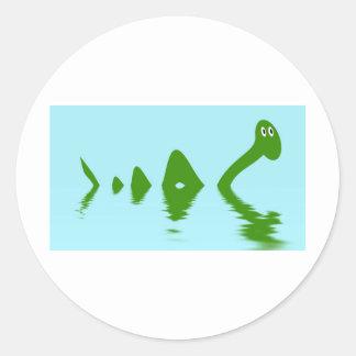 Loch Ness Monster (Green) Classic Round Sticker