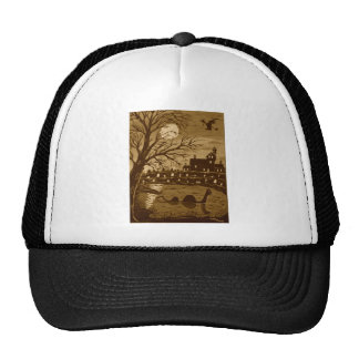 Loch Ness Monster On Halloween Trucker Hat