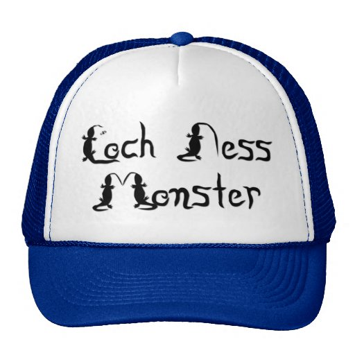 Loch Ness Monster Text Hats